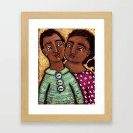 Sara and Raj Framed Art Print