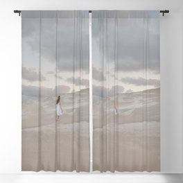 Girl on the beach   Travel Photography Blackout Curtain