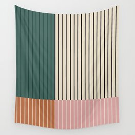 Color Block Lines V Wall Tapestry