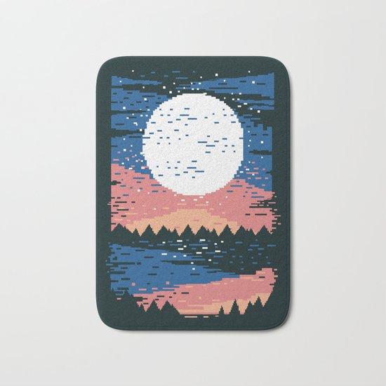 Starry Pixel Night Bath Mat