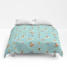 Surfing kids Comforters