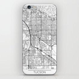 Tucson Map White iPhone Skin