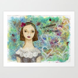 I am Blessed by patsy paterno Art Print