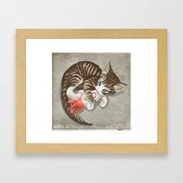 Fallout - Rocket Kitten Framed Art Print