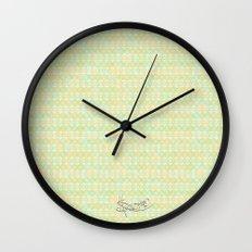 Soft Summer. Wall Clock