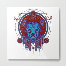 Native Spirit Totem (The Bear) Metal Print