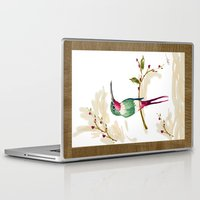 hummingbird Laptop & iPad Skins featuring hummingbird by Ariadne