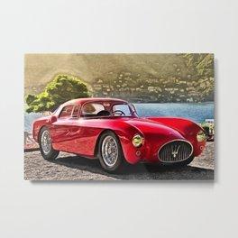 Vintage 1954 Italian Roadster A6GCS Berlinetta Pinin Farina Painting Metal Print