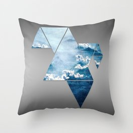 Fragmented Clouds Throw Pillow
