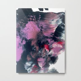 Thunderstorm: a vibrant, abstract acrylic piece in purple, blue, magenta, and white Metal Print