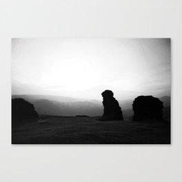 Night To Fall Black & White Canvas Print