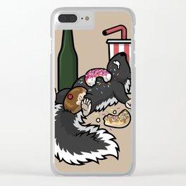 Skunk Funk Clear iPhone Case