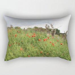Poppies on a Hill Rectangular Pillow