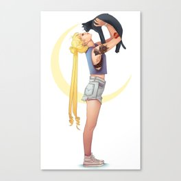 Usagi and Luna Canvas Print