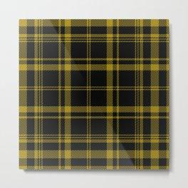 Yellow Tartan Metal Print