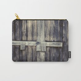 Vintage Wood Barn Door - Industrial Urban Art Carry-All Pouch