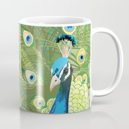 The Majestic Peacock Coffee Mug