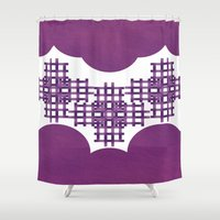 swag Shower Curtains featuring Swag Pattern by Azeez Olayinka Gloriousclick