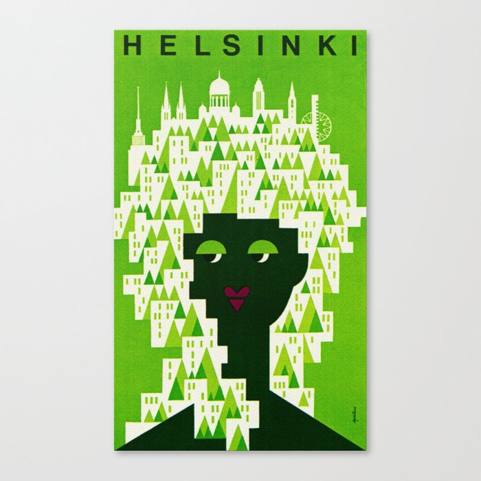 Vintage Helsinki Finland Travel Leinwanddruck