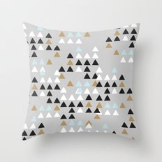Scandinavian geometric pattern Throw Pillow
