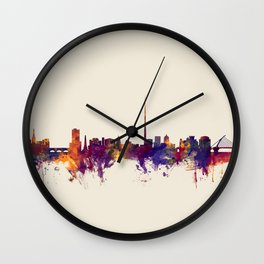 Dublin Ireland Skyline Wall Clock