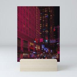 Red Night Lights Photography  Mini Art Print