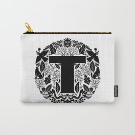 Letter T monogram wildwood Carry-All Pouch