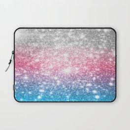 Galaxy Sparkle Stars Cotton Candy Laptop Sleeve
