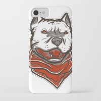 pitbull iPhone & iPod Cases featuring Pitbull by VentureDesign