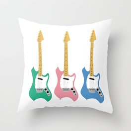 Strumming the guitar! Throw Pillow