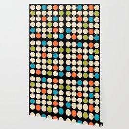 Mid Century Modern Polka Dot Pattern 422 Wallpaper
