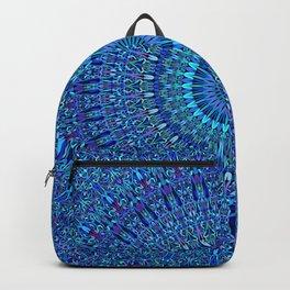 Blue Spiritual Flower Garden Mandala Backpack