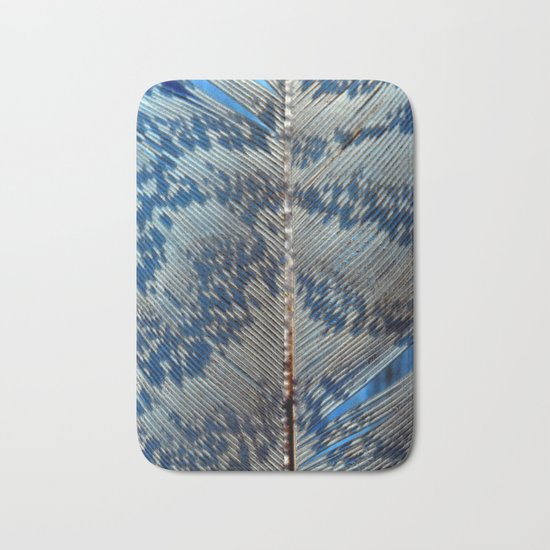 Feather | Feathers | Spiritual | Blue Feather Bath Mat