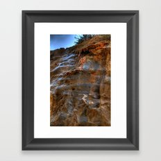 The Cliffs of Israel Framed Art Print