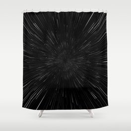 Planet Pixel Rush Shower Curtain