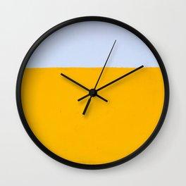 White and Yellow Pattern Wall Clock