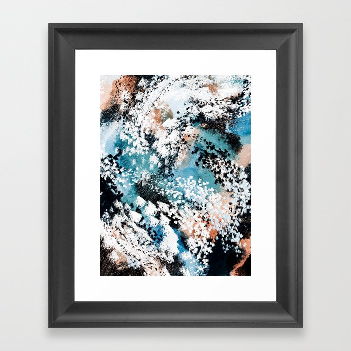 Oceana Abstract Framed Art Print by lisaguenraymond | Society6