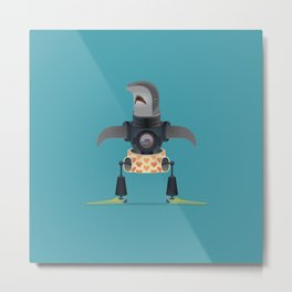 Sharkbot Metal Print