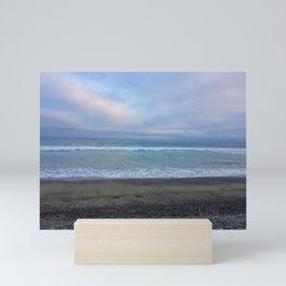 Rocky Malibu Sea Mini Art Print