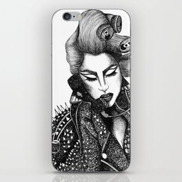 GIRL WITH A TELEPHONE iPhone Skin