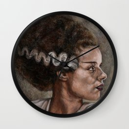 Elsa Lancester is 'The Bride of Frankenstein' Wall Clock