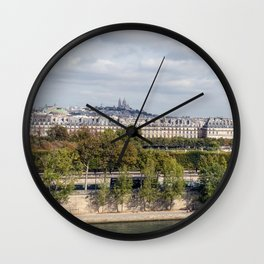 Panoramic view of Paris Wall Clock
