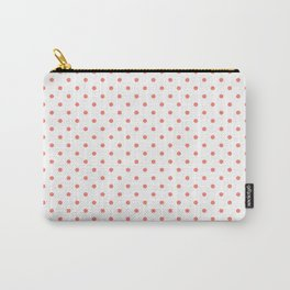 Dots (Salmon/White) Carry-All Pouch
