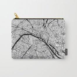 Paris Black and White Map Carry-All Pouch
