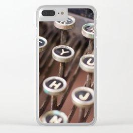 Antique typewriter keys Clear iPhone Case