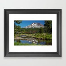 South Sister Mountain, Central Oregon Framed Art Print