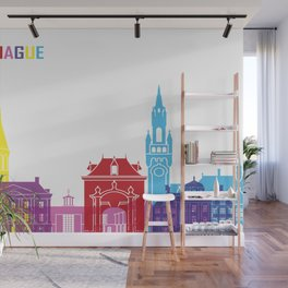 The hague skyline pop Wall Mural