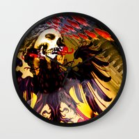 madonna Wall Clocks featuring L'invasion Madonna by RIGOLEONART
