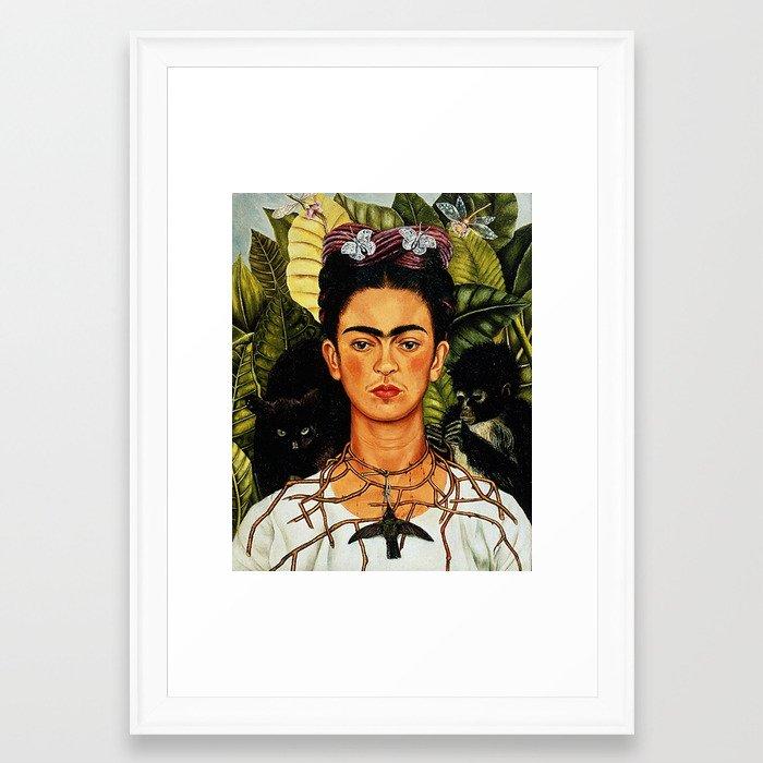 Frida Kahlo Cat Framed Art Print by paparrazzi666 | Society6