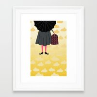 mary poppins Framed Art Prints featuring Mary Poppins by Prelude Posters